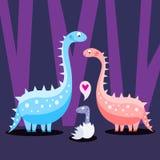 Famille de dinosaur illustration libre de droits