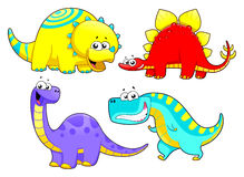 Famille de dinosaures. illustration de vecteur