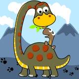 Famille de dinosaures de vecteur Photo stock