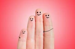 Famille de doigt photos stock