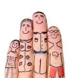 Famille de doigts Images libres de droits