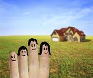 Famille de doigts Photo stock
