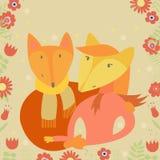 Famille de Fox illustration de vecteur