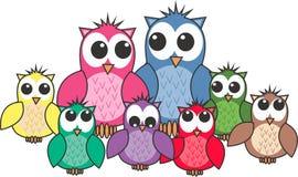 Famille de hibou Image libre de droits