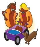 Famille de hot-dog illustration stock