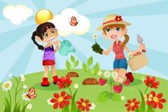 Famille de jardinage Image stock