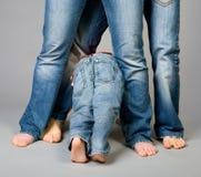 Famille de jeans Photos libres de droits