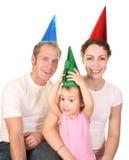 Famille de joyeux anniversaire image libre de droits