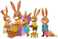 Famille de lapin Photos libres de droits