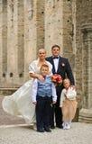 Famille de mariage Images libres de droits