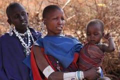 Famille de masai Photo stock
