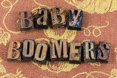 Famille de message de génération de baby boomers Images stock