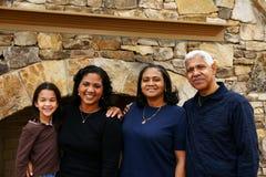 Famille de minorité Images stock