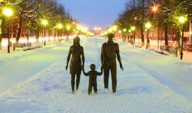 Famille de monument Images stock
