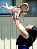 Famille de natif américain Images libres de droits