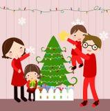 Famille de Noël Photos libres de droits