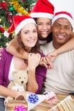 Famille de Noël Image stock