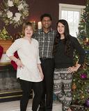 Famille de Noël de trois Image stock