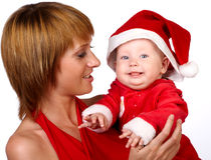 Famille de Noël Photo stock