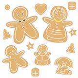 Famille de pain d'épice Photo libre de droits