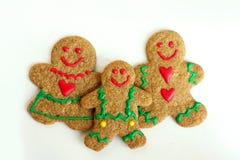 Famille de pain d'épice de Noël Photos libres de droits