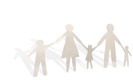 Famille de papier Images stock