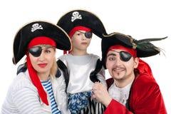 Famille de pirate Photo stock
