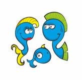 Famille de poissons fantastique Photographie stock libre de droits