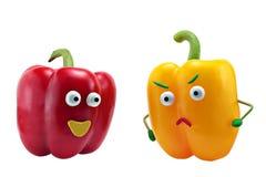 Famille de poivrons de Happines Image libre de droits