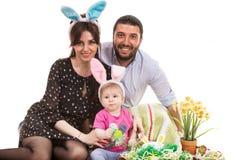 Famille de Pâques Photographie stock
