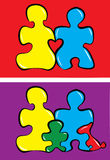 Famille de puzzle Illustration Libre de Droits