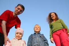 Famille de quatre images stock
