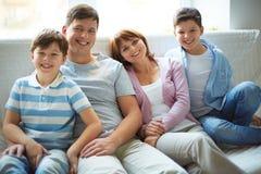 Famille de quatre image libre de droits