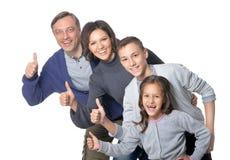 Famille de quatre heureuse Photo libre de droits
