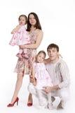 Famille de quatre personnes Photos stock