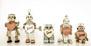 Famille de robot Photos libres de droits