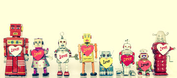 Famille de robot Photo libre de droits
