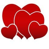 Famille de rouge de coeur illustration de vecteur