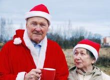 Famille de Santa Photos libres de droits