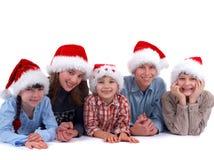 Famille de Santa Images stock