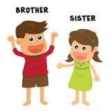 Famille de soeur de frère Photos libres de droits