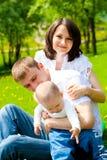Famille de source Photographie stock