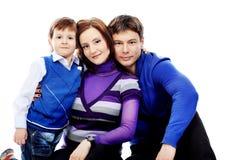 Famille de sourire Photos stock