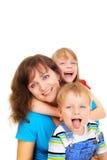 Famille de sourire Images libres de droits