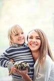 Famille de sourire Photos libres de droits