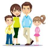Famille de sourire heureuse Photo libre de droits