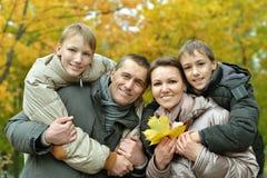 Famille de sourire heureuse Images libres de droits
