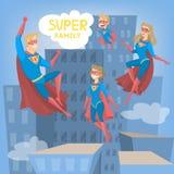Famille de superhéros illustration stock