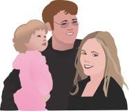 Famille de trois illustration stock