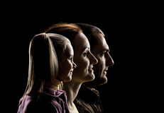 Famille de trois Photographie stock libre de droits